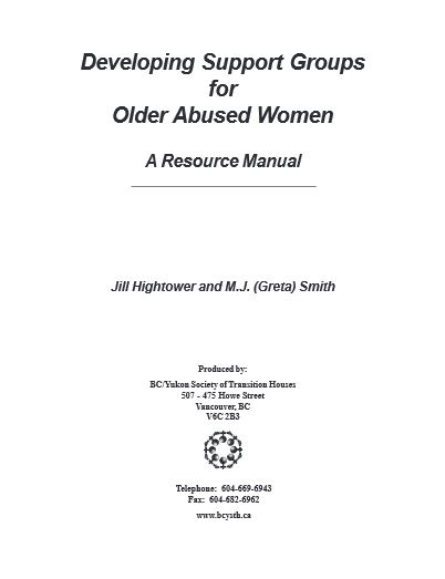 Developing Support Groups for Older Abused Women