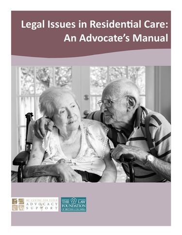 Legal Issues in Residential Care An Advocates Manual