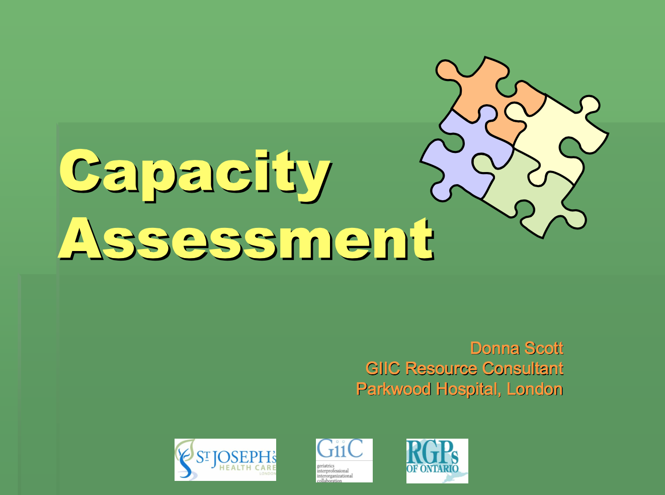 10 Teaching Slides on Capacity Assessment