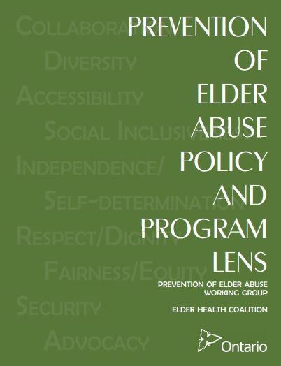 Prevention of Elder Abuse Program and Policy Lens