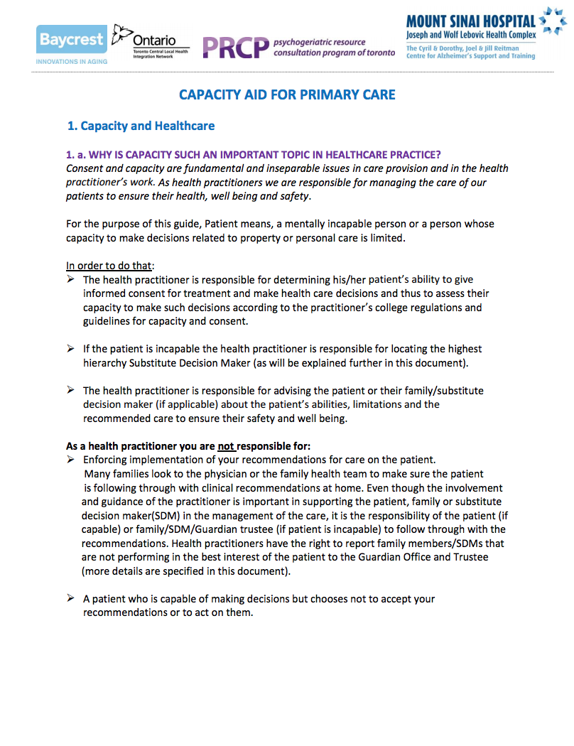 Capacity Aid for Primary Care