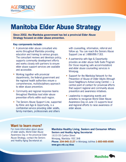 Manitoba Elder Abuse Strategy