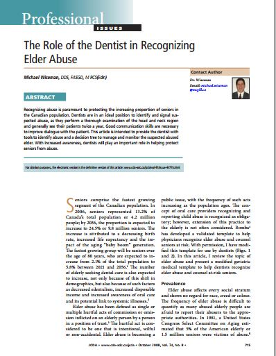 The Role of the Dentist
