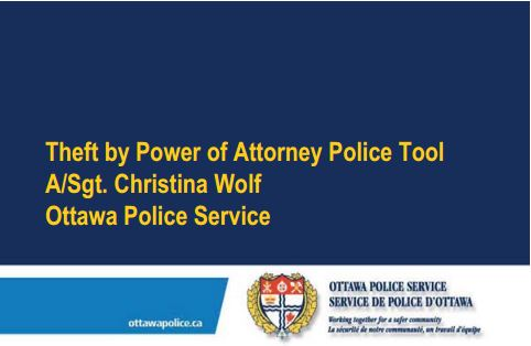 Theft by Power of Attorney Police Tool