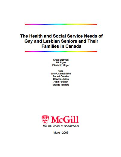 The Health and Social Service Needs of Gay and Lesbian Seniors and Their Families in Canada